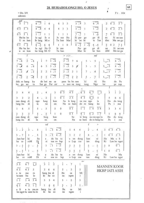 KATK 28 Huhaholongi Ho O Jesus