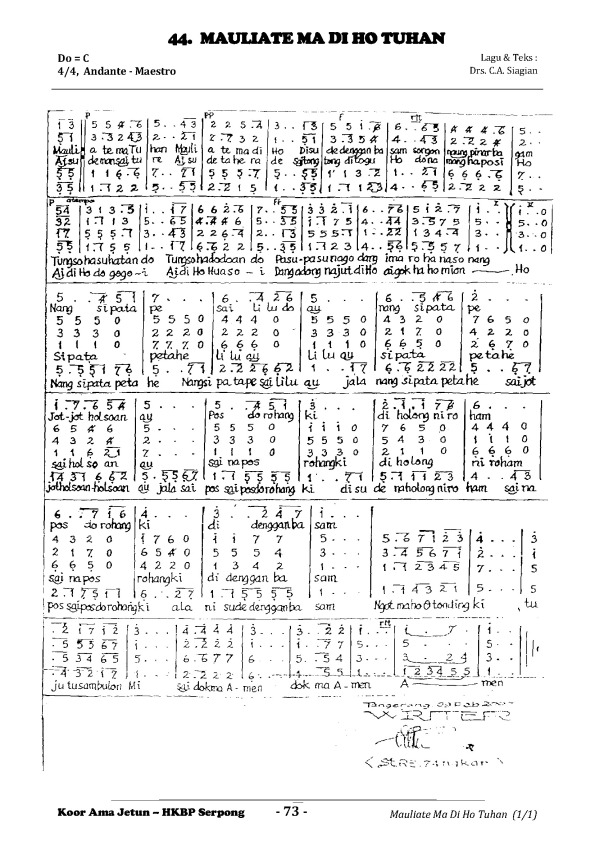 44 Mauliate Ma Di Ho Tuhan (AJetun)
